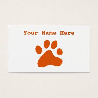 Orange Dog Paw Business Card