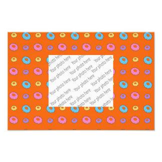 Orange donut pattern photographic print