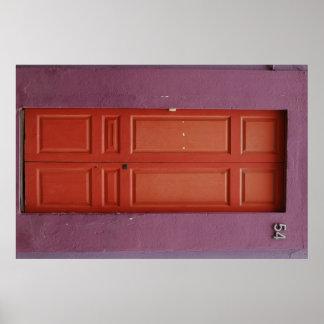 Orange Door Print