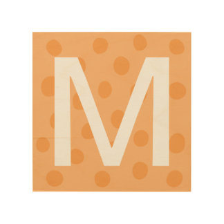 Orange Dots with Initial Letter Kids' Room Decor
