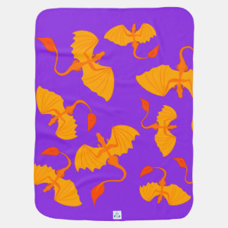 orange dragon baby blanket