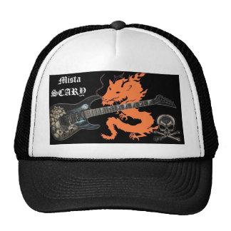Orange Dragon Skull Guitar Crossbone Baseball Hat