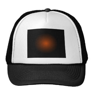 Orange Drama Modern Urban Art Products Mesh Hats