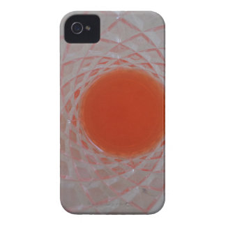 Orange drink inside a crystal glass iPhone 4 covers