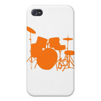 Orange Drum set Covers For iPhone 4