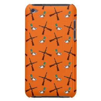 Orange duck hunting pattern barely there iPod case