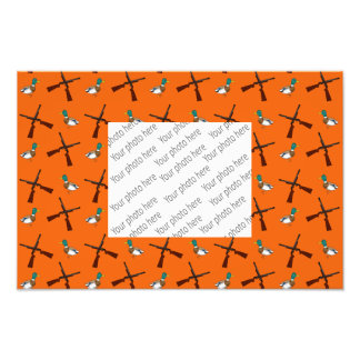Orange duck hunting pattern photo