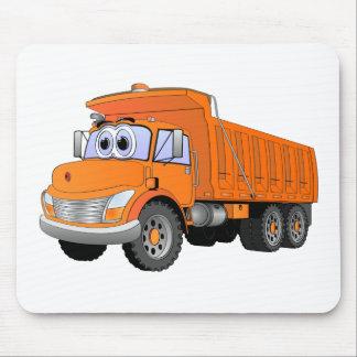 Orange Dump Truck Cartoon Mouse Pad