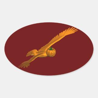 Orange Eagle Oval Sticker