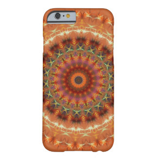Orange Earth Mandala iPhone 6 case Barely There iPhone 6 Case