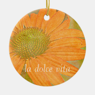 Orange Echinacea Art Dolce Vita Ornament