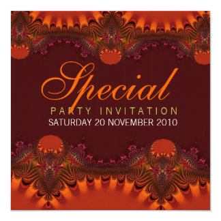 Orange Elegance Special Invitations