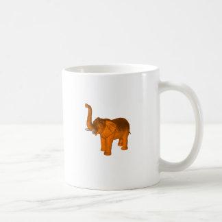 Orange Elephant Basic White Mug