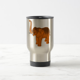 Orange Elephant Travel Mug