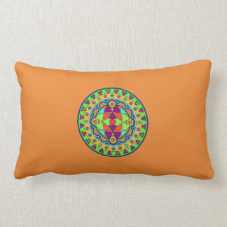 ORANGE EMBOSSED MANDALA THROW PILLOW