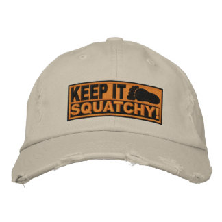 Orange *EMBROIDERED* Keep It Squatchy! - Bobo's Embroidered Hat