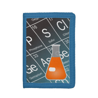 Orange Erlenmeyer (Conical) Flask Chemistry Tri-fold Wallet