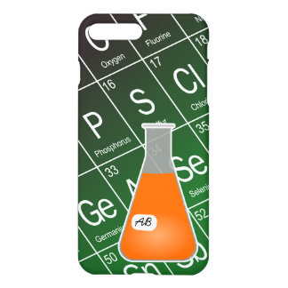 Orange Erlenmeyer Flask (with Initials) Chemistry iPhone 7 Plus Case