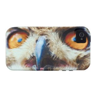 Orange Eyed Owl Case-Mate iPhone 4 Cover