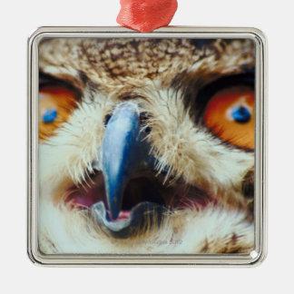 Orange Eyed Owl Christmas Ornament