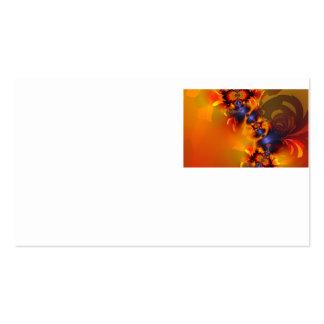 Orange Eyes Aglow – Gold & Violet Delight Business Card