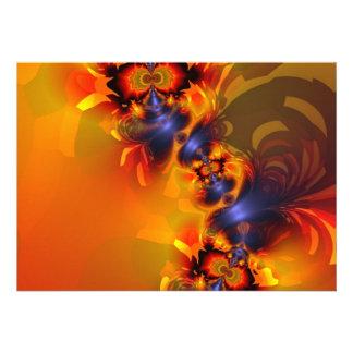 Orange Eyes Aglow – Gold & Violet Delight Custom Invites