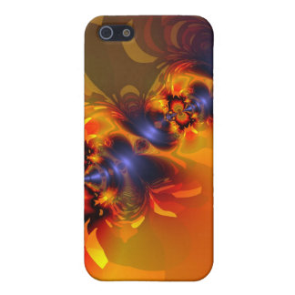 Orange Eyes Aglow – Gold & Violet Delight Cover For iPhone 5