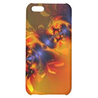 Orange Eyes Aglow – Gold & Violet Delight Cover For iPhone 5C