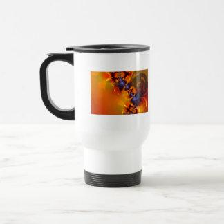 Orange Eyes Aglow – Gold & Violet Delight Coffee Mugs