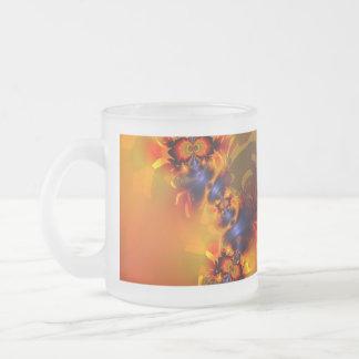 Orange Eyes Aglow – Gold & Violet Delight Mug