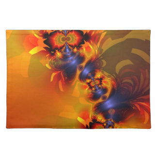 Orange Eyes Aglow – Gold & Violet Delight Placemat