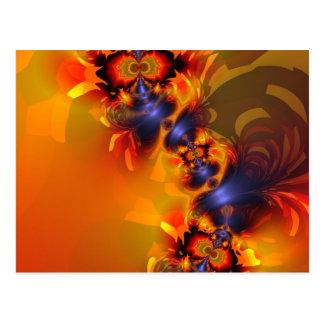Orange Eyes Aglow – Gold & Violet Delight Postcard