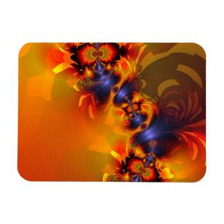 Orange Eyes Aglow – Gold & Violet Delight Rectangle Magnets