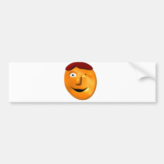 Orange face smiley giving you a wink bumper sticker