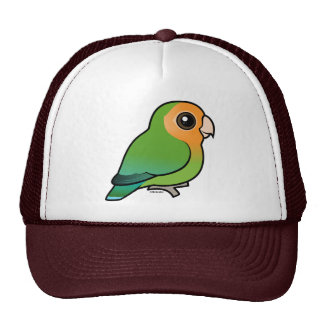 Orange-faced Peach-faced Lovebird Cap