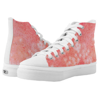 Orange faded stars high tops