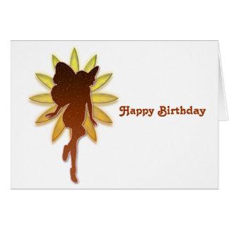Orange Fairy and Flower Greeting Card