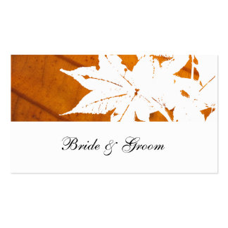 Orange Fall Leaf Place Cards Double-Sided Standard Business Cards (Pack Of 100)
