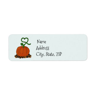 Orange Fall Pumpkin Halloween Thanksgiving Address Return Address Label