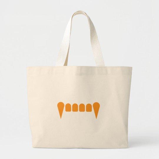 Orange Fangs Jumbo Tote Bag