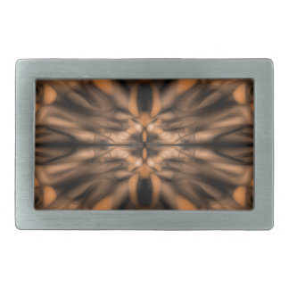 Orange fantasy organic pattern belt buckle