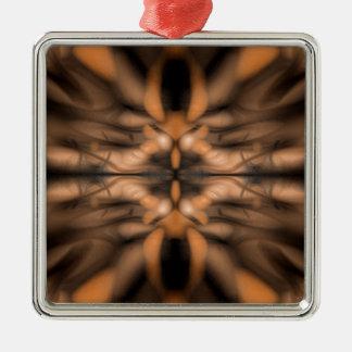 Orange fantasy organic pattern christmas ornament