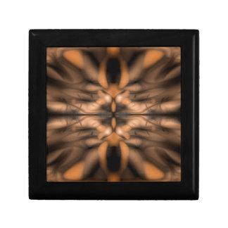 Orange fantasy organic pattern gift box