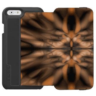 Orange fantasy organic pattern incipio watson™ iPhone 6 wallet case