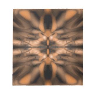 Orange fantasy organic pattern notepad