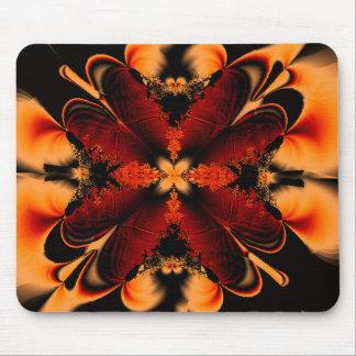 Orange Feather Fractal Mousepad