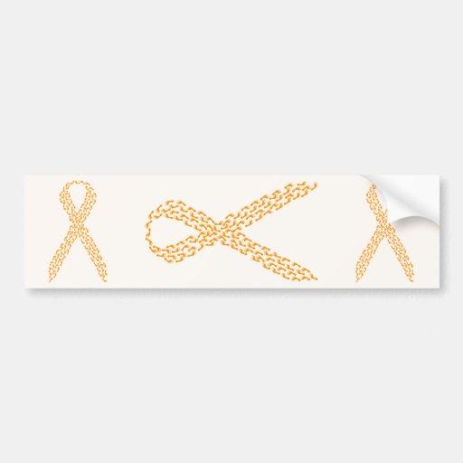 Orange Feet Awareness Ribbon Bumper Sticker