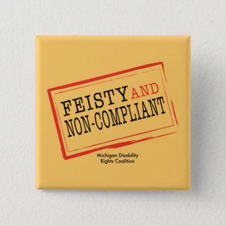Orange Feisty Button