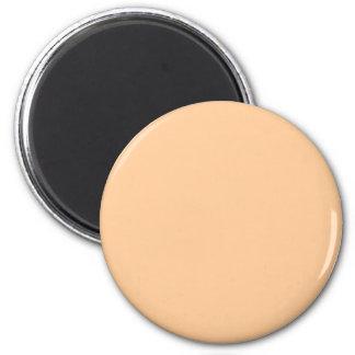 Orange #FFCC99 Solid Color 6 Cm Round Magnet