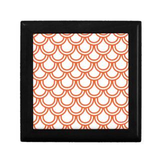 Orange Fish Scales Gift Box